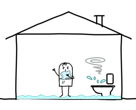 Water burst ground clipart jpg library stock Water Damage & Flood Insurance in Ontario   Mitchell & Whale ... jpg library stock