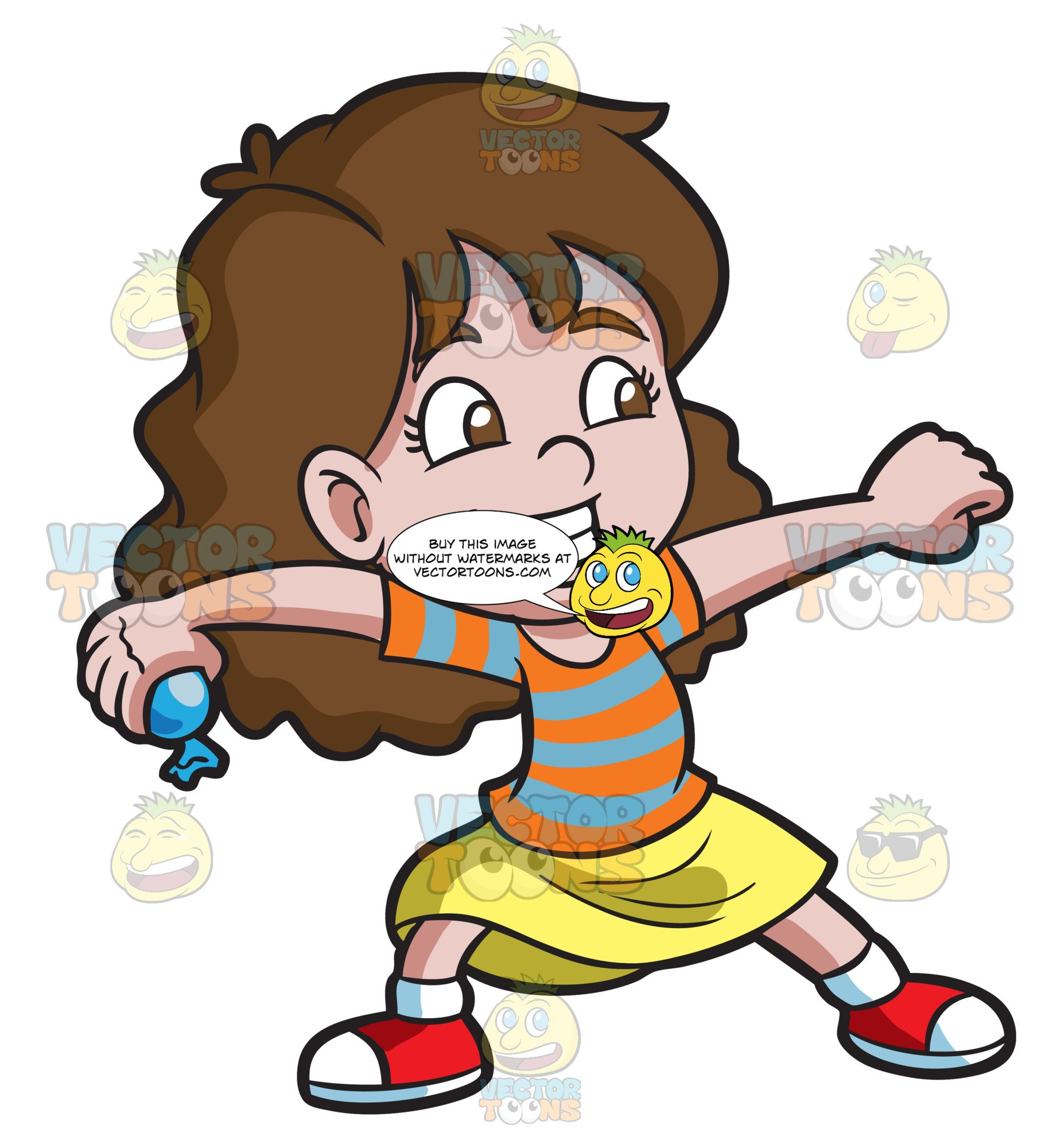 Water clipart girl jpg transparent download A Youthful Girl Enjoying A Water Balloon Game jpg transparent download