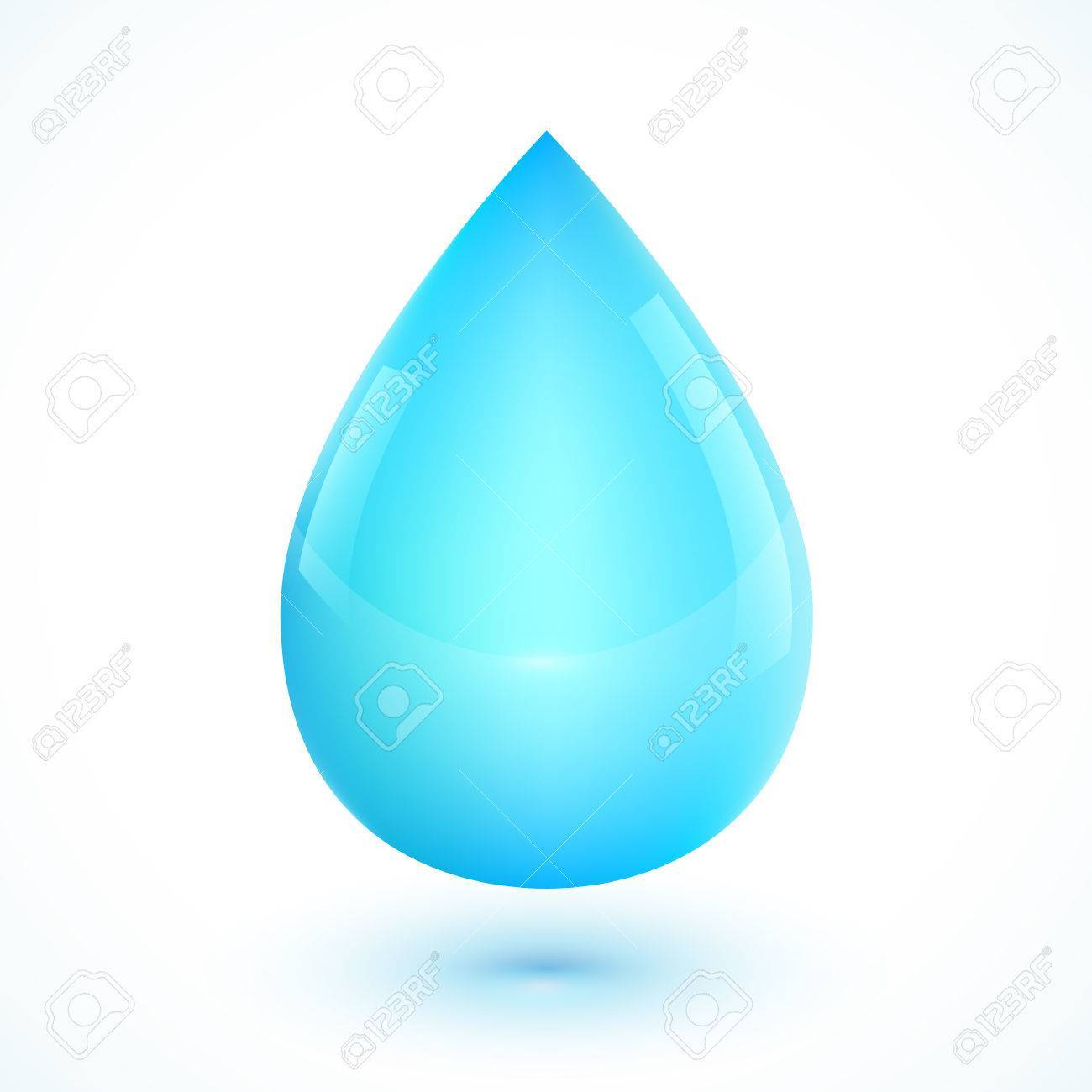 Water clipart realistic clipart freeuse download Blue realistic vector water drop isolated on white » Clipart ... clipart freeuse download