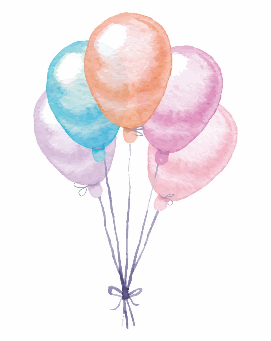 Water color balloon clipart vector library stock Colorful Painting Balloon Watercolor Vector Balloons ... vector library stock