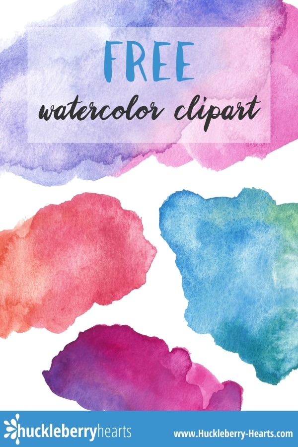 Water color clipart free image black and white Free Watercolor Clipart Printable | Huckleberry Hearts image black and white