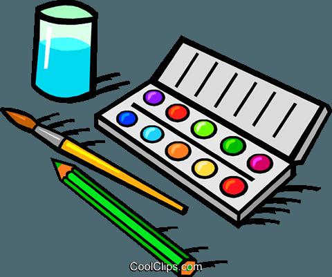 Water color paints clipart clip free download water color paint set Royalty Free Vector Clip Art ... clip free download