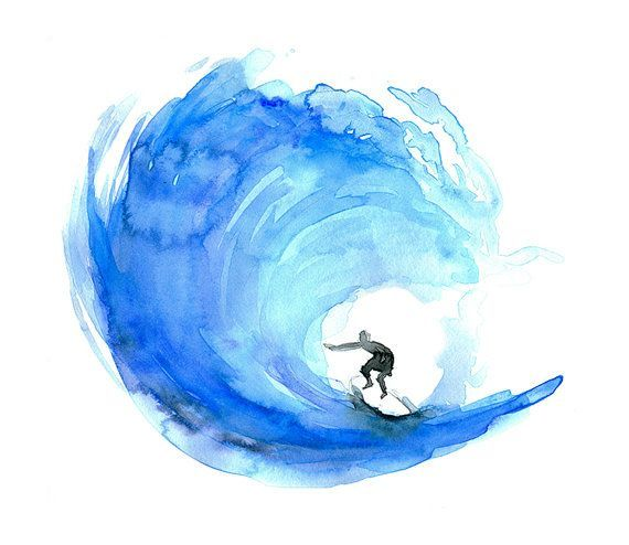 Water color surfboard clipart svg Surf Art, surf watercolor painting, Poster, print, ocean ... svg