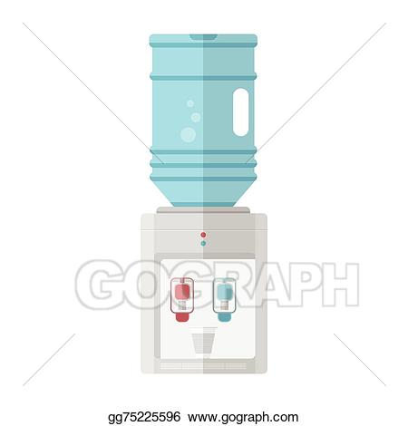 Water cooler cup clipart image free Vector Clipart - Flat vector icon for water cooler. Vector ... image free