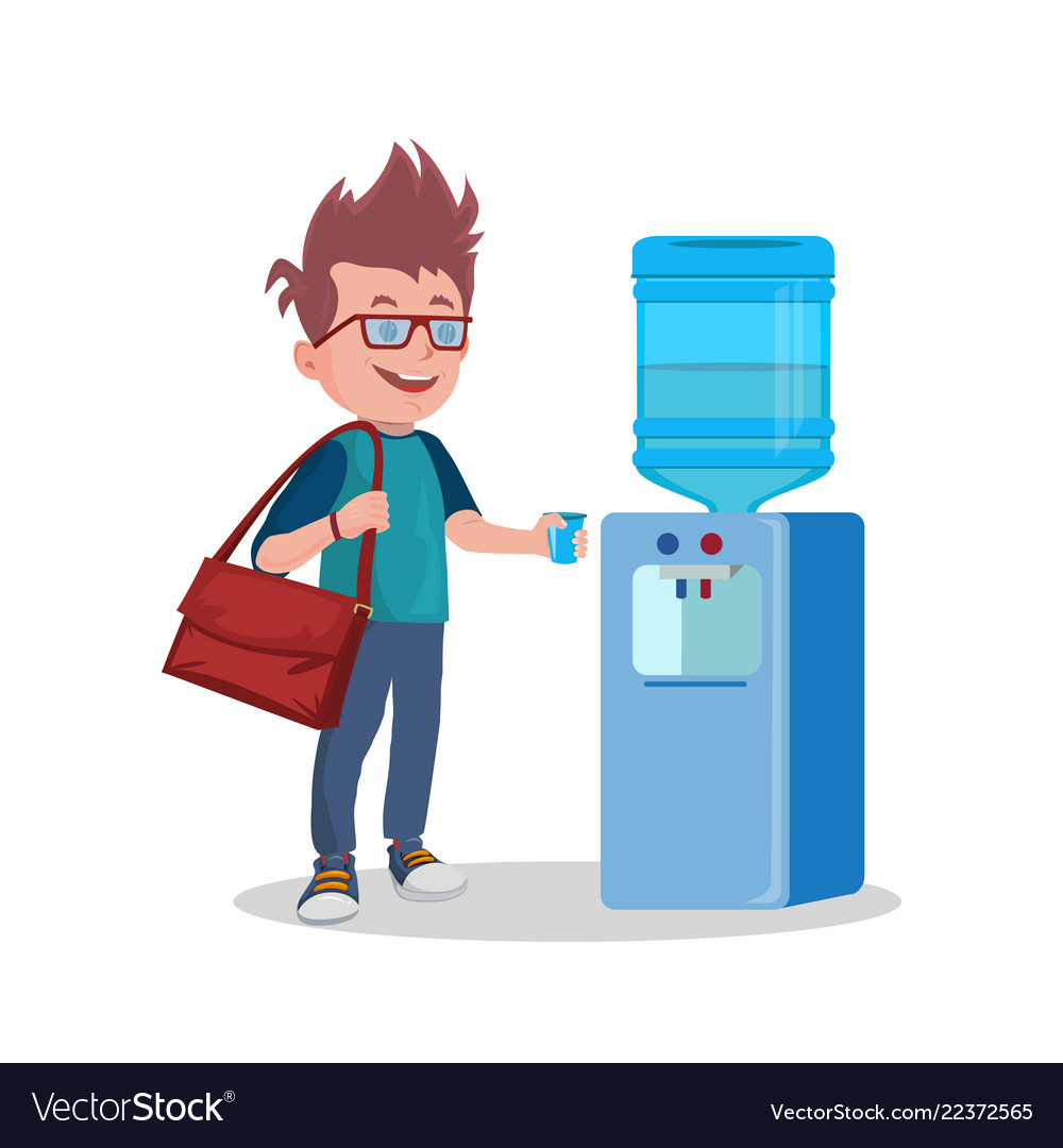 Water cooler cup clipart picture library Water cooler and man with cup picture library
