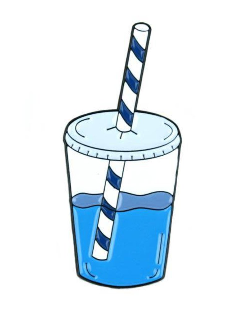 Water cup clipart straw image library Mokuyobi Threads Water Cup Enamel Pin image library