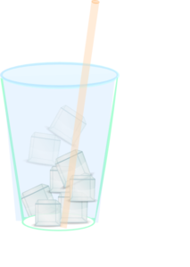 Water cup clipart straw image transparent stock Ice Water With Straw Clip Art at Clker.com - vector clip art ... image transparent stock