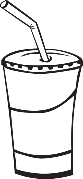 Water cup clipart straw jpg transparent 369RA - Soda cup | cake templets | Coloring pages, Soda cup ... jpg transparent