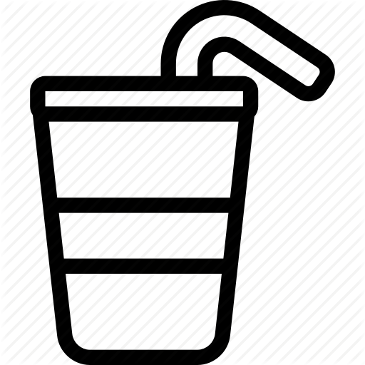 Water cup clipart straw clipart black and white library \'Strokeicon Volume 10\' by strongicon clipart black and white library