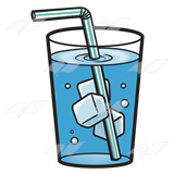Water cup clipart straw graphic freeuse library Glass of Ice Water, with a straw graphic freeuse library