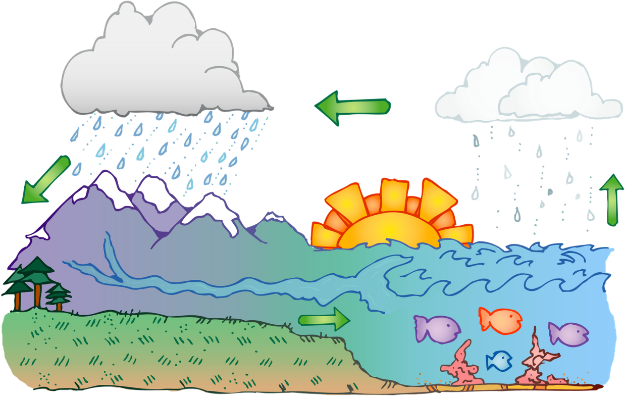 Water cycle clipart clipart freeuse Water cycle - ThingLink clipart freeuse