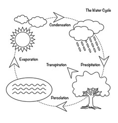 Water cycle clipart in black and white picture library library Water Cycle Vector Images (over 2,500) picture library library