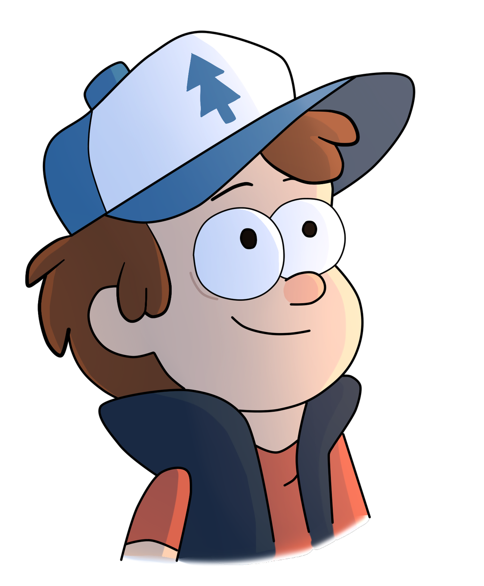 Water dipper clipart banner black and white Dipper Pines Gravity Falls Drawing Animated cartoon - water ... banner black and white