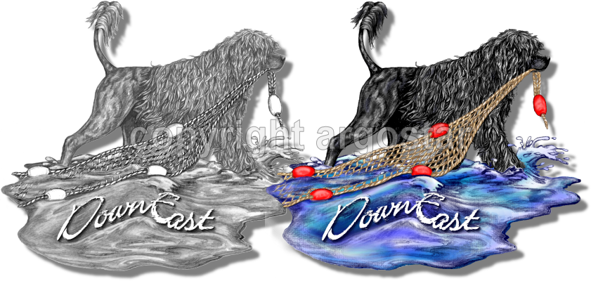 Water dog clipart clipart black and white Pencil Logos - unique soft detailed pencil drawings for logo ... clipart black and white