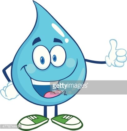 Water drop character clipart png stock Happy Water Drop Character Giving A Thumb UP premium clipart ... png stock