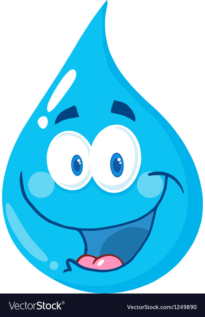 Water drop character clipart vector library stock Water Drop Cartoon Character vector library stock