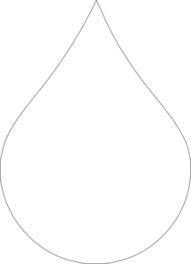 Water droplet outline clipart png banner royalty free stock Water Drop Clip Art at Clker.com - vector clip art online ... banner royalty free stock