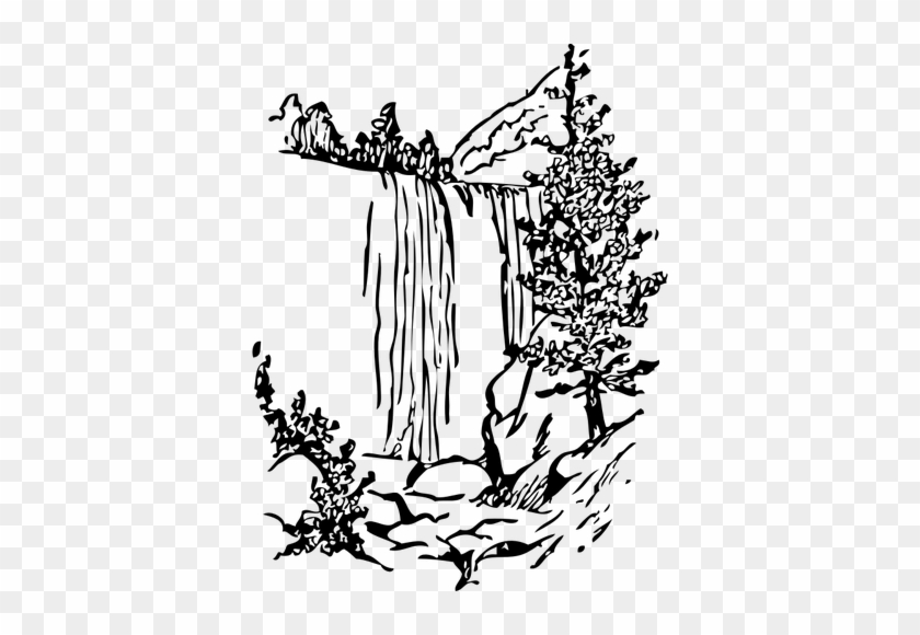 Water falls silhouette clipart clip library stock Black And White Waterfall Clipart - Best Waterfall ... clip library stock