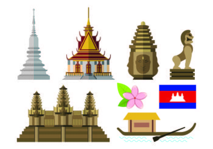 Water festival cambodia clipart picture royalty free library Set Of Cambodia Icon - Download Free Vectors, Clipart ... picture royalty free library