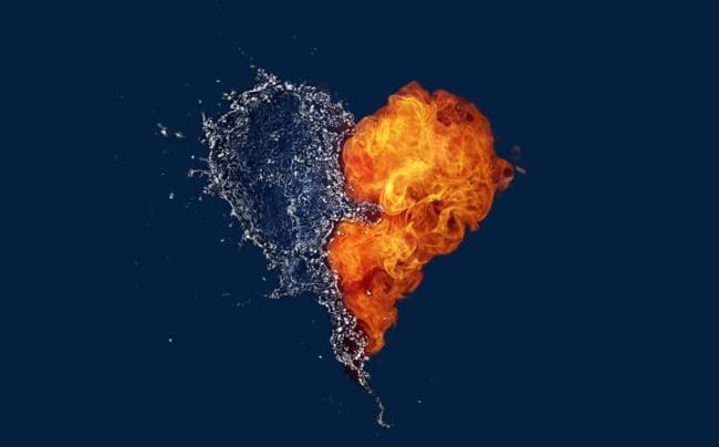 Water fire clipart png transparent Water And Fire Heart-shaped Pattern PNG, Clipart, Fire, Fire ... png transparent