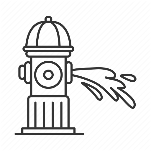 Water gushing clipart svg download Extinguish, fire, fireplug, flow, gushing, hydrant, water icon svg download