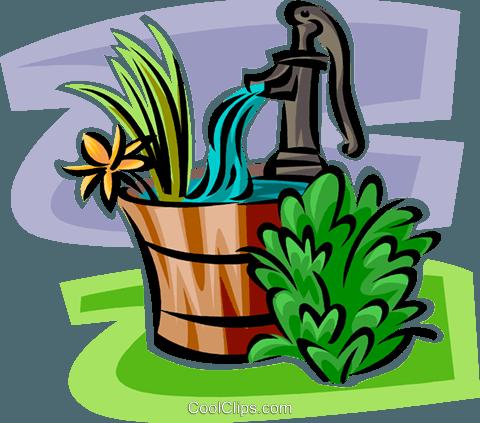 Water pump clipart free jpg free stock hand water pump Royalty Free Vector Clip Art illustration ... jpg free stock