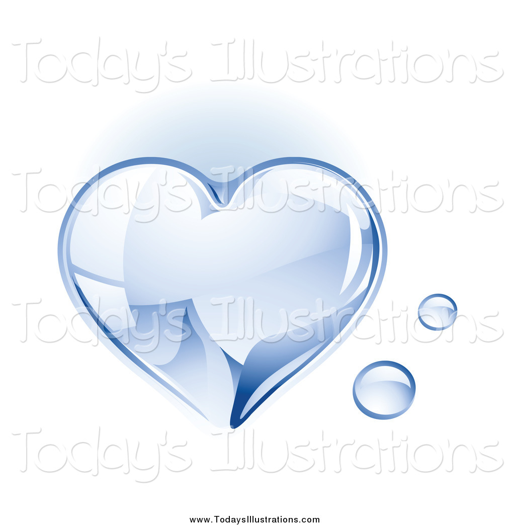 Water heart clipart svg Clipart of a 3d Shiny Water Drop Heart by TA Images - #6214 svg