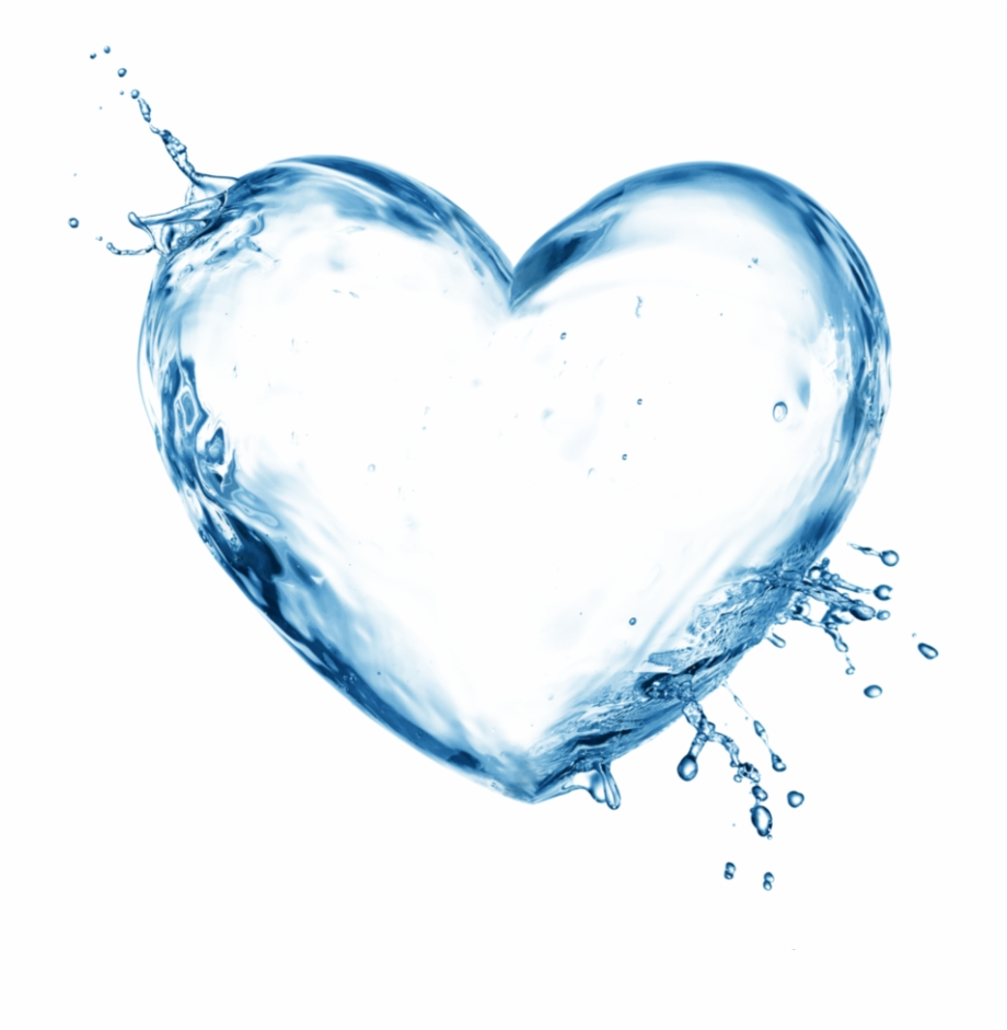 Water heart clipart image Free Icons Png - Transparent Background Water Heart Free PNG ... image