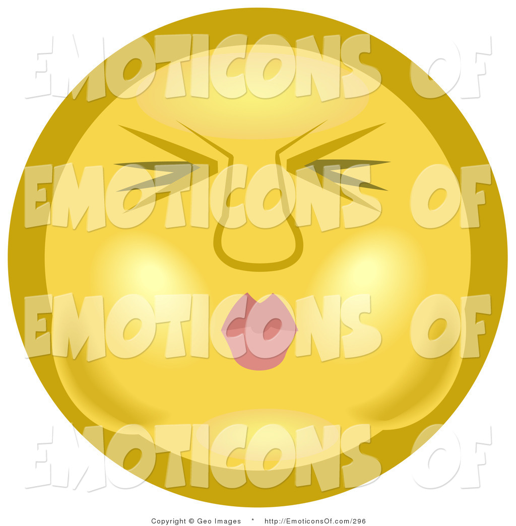Water holding its breath clipart vector library stock Clip Art of a Yellow Smiley Face Puckering Its Lips and ... vector library stock