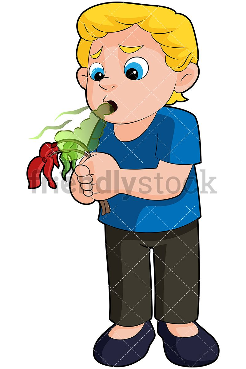 Water holding its breath clipart picture black and white library Little Boy Killing A Flower With His Stinky Breath | Kids ... picture black and white library