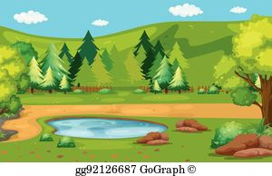 Water hole clipart clip freeuse download Waterhole Clip Art - Royalty Free - GoGraph clip freeuse download