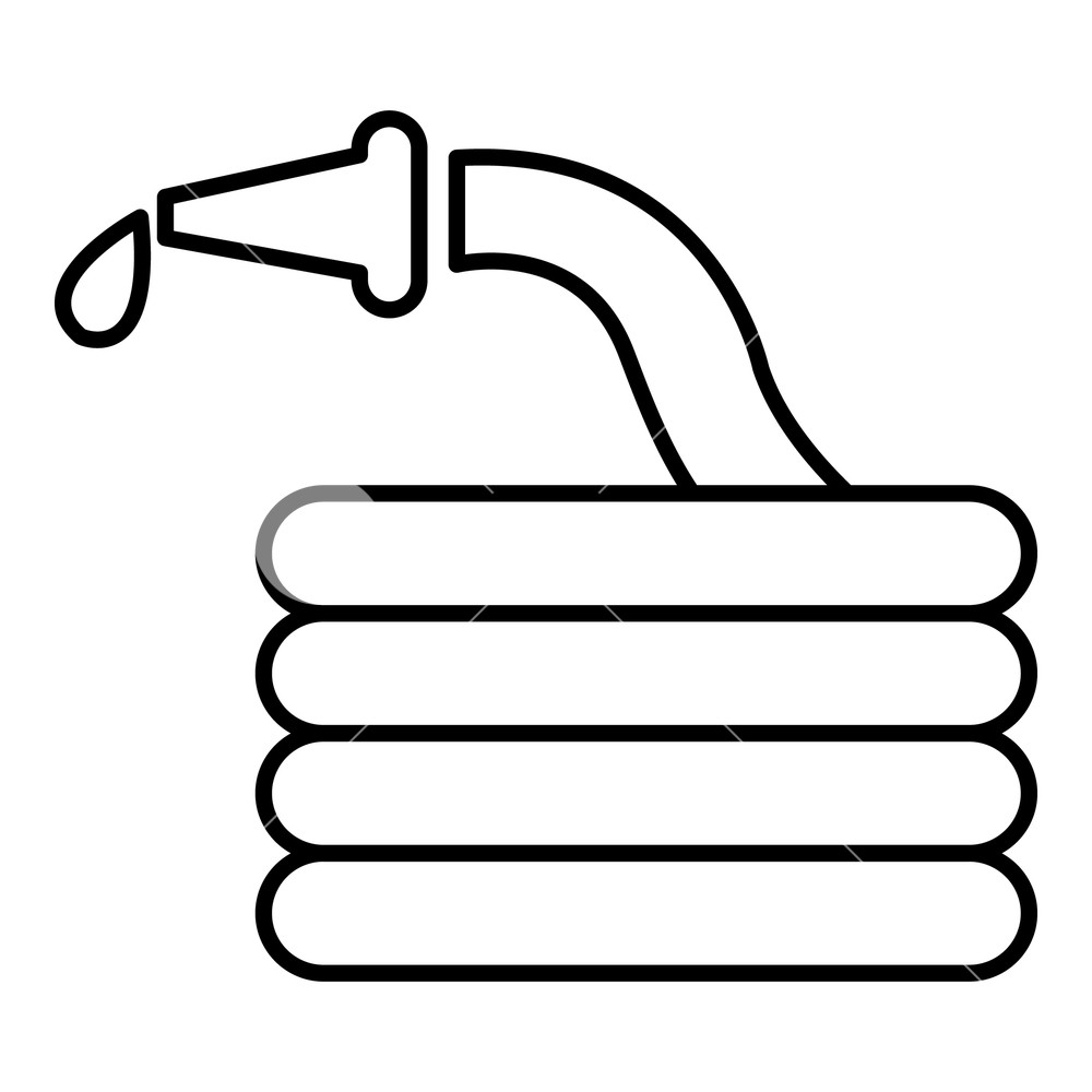 Water hoses vector clipart clip black and white library Water hose icon. Outline illustration of water hose vector ... clip black and white library