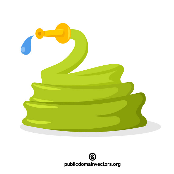 Water hoses vector clipart png Garden hose vector clip art - Free vector image in AI and ... png