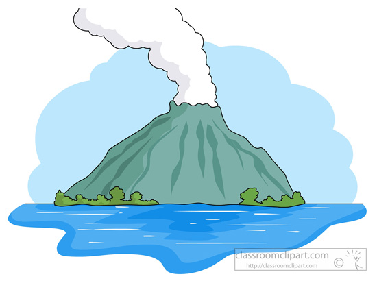 Water island clipart picture freeuse library Volcano, Water, Tree png clipart free download picture freeuse library