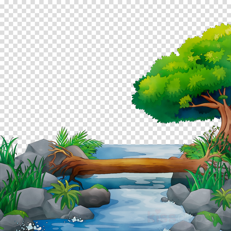 Water landscape clipart png freeuse Jungle Background clipart - Nature, Water, Landscape ... png freeuse
