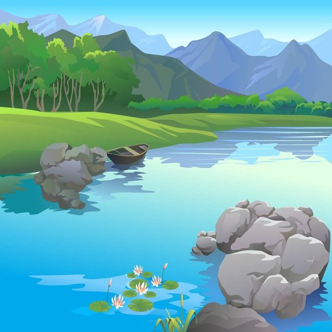 Water landscape clipart royalty free Landscape Body Of Water Sea Land Background | cartoon in ... royalty free