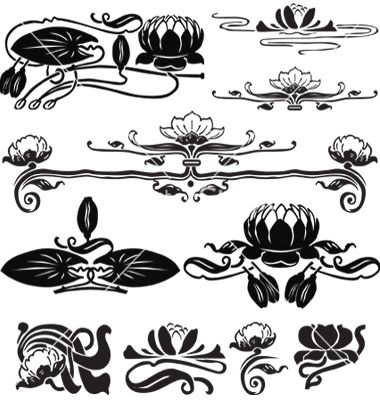 Water lily vector free download png download Pattern with a water lily vector | Arx academia | Pinterest ... png download