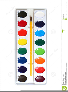 Water painting clipart graphic library download Watercolor Paints Clipart   Free Images at Clker.com ... graphic library download