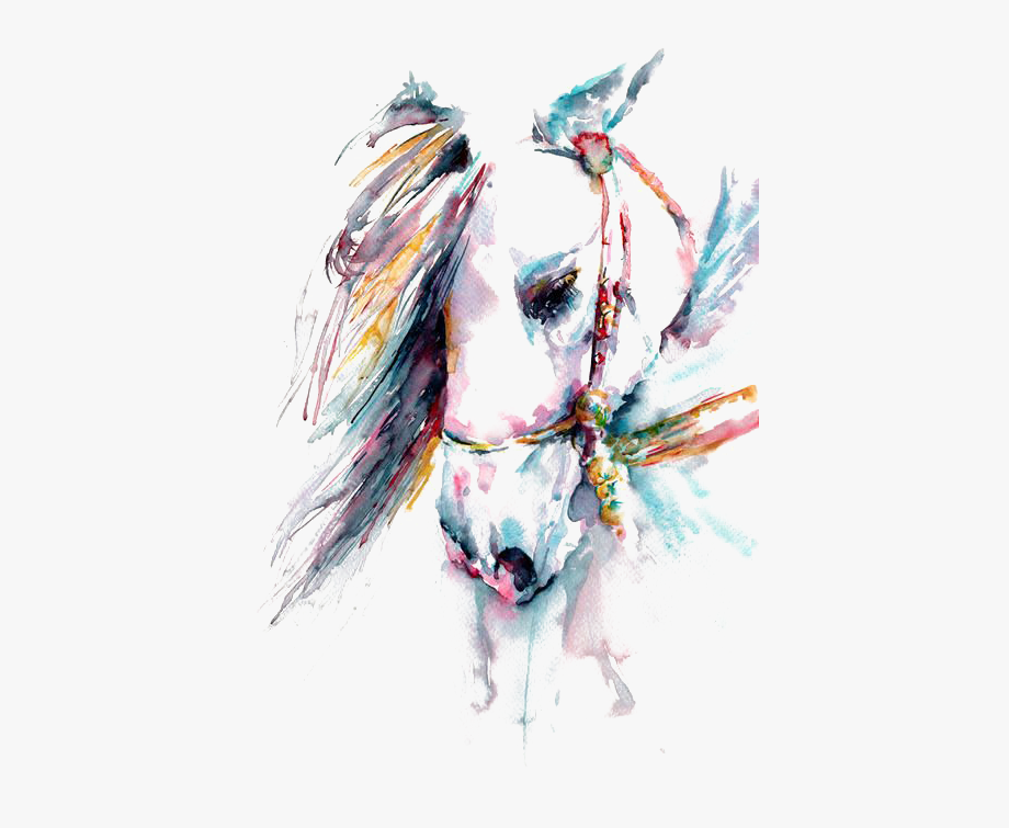 Water painting clipart png royalty free stock Horse Watercolor Painting Drawing Tattoo - Water Color Horse ... png royalty free stock