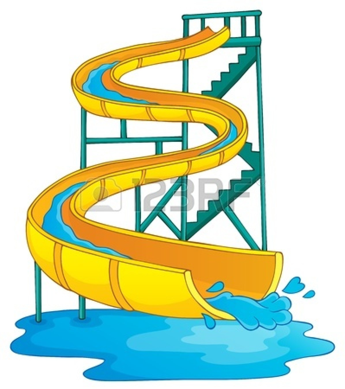 Water park slides clipart clipart library download Water Slide Clipart | Free download best Water Slide Clipart ... clipart library download