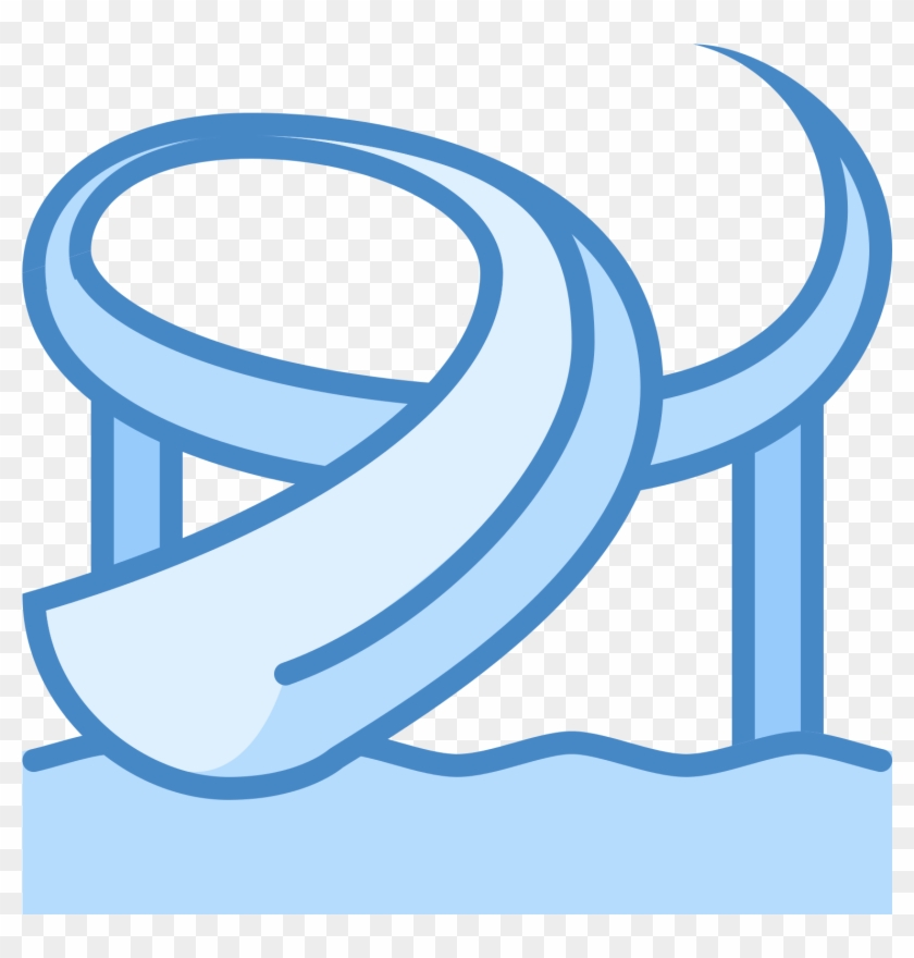 Waterslide clipart image black and white Water Park Icon , Png Download - Water Slide Clipart Blue ... image black and white