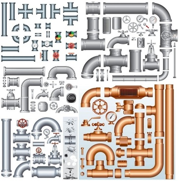 Water pipe pieces clipart