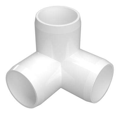 Water pipe pieces clipart image royalty free library 1 in. Furniture Grade PVC 3-Way Elbow in White (4-Pack) image royalty free library
