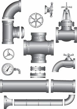 Water pipe pieces clipart clipart black and white stock Pipe free vector download (99 Free vector) for commercial ... clipart black and white stock