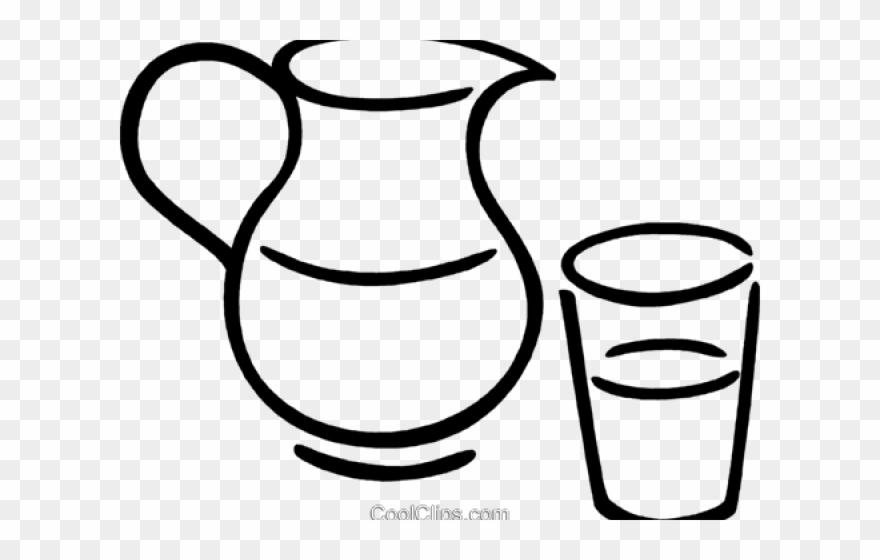Water pitcher clipart transparent image black and white Pitcher Clipart Transparent - Pitcher Water Clipart Black ... image black and white