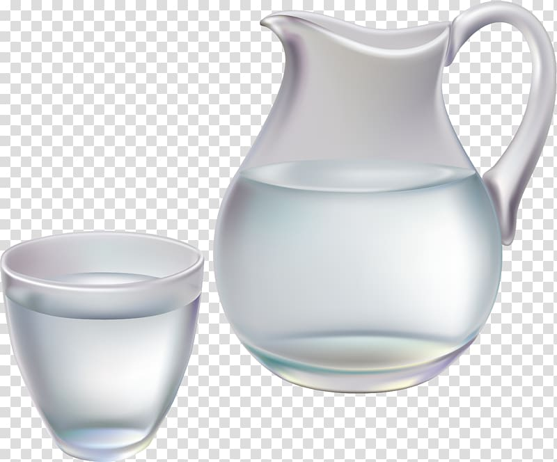 Water pitcher clipart transparent jpg freeuse stock Clear glass pitcher and cup , Pitcher Jug Glass , water ... jpg freeuse stock