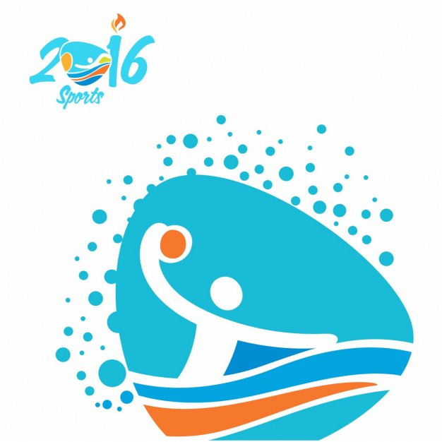 Water polo clipart olympic clip art royalty free library Water polo olympics icon Vector | Free Download clip art royalty free library
