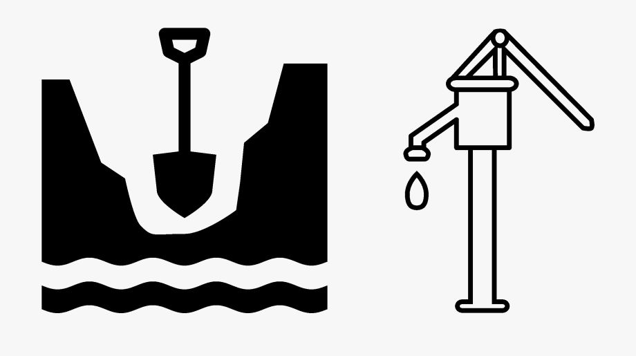 Water pump clipart free black and white stock Banner Transparent Well Water Clipart - Hand Pump Line Art ... black and white stock