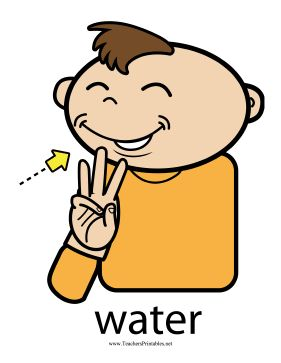 Water sign language clipart black and white download 78 Best images about Baby Sign Language on Pinterest ... black and white download
