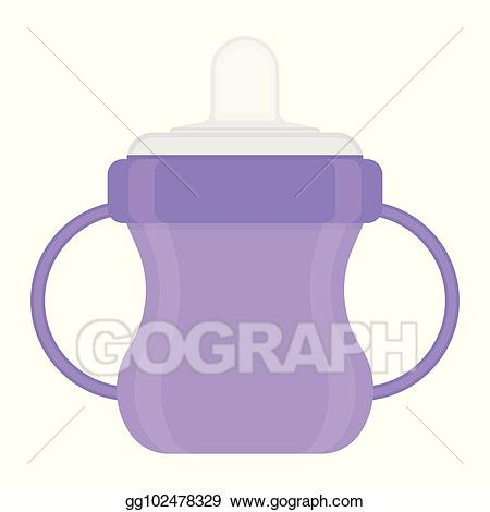 Water sippy clipart picture transparent download Clip Art Vector - Baby sippy cup isolated on white. Stock ... picture transparent download
